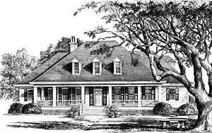 Southern Living custom home plan - Bayou Cottage