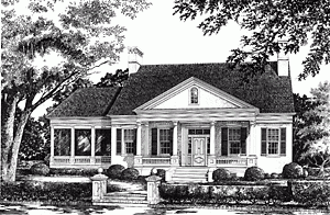 Southern Living custom home plan - Shields Town House