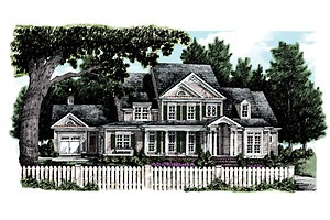 Southern Living custom home plan -  Baldwin Farm