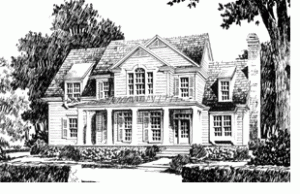 Southern Living custom home plan - Randolph Place