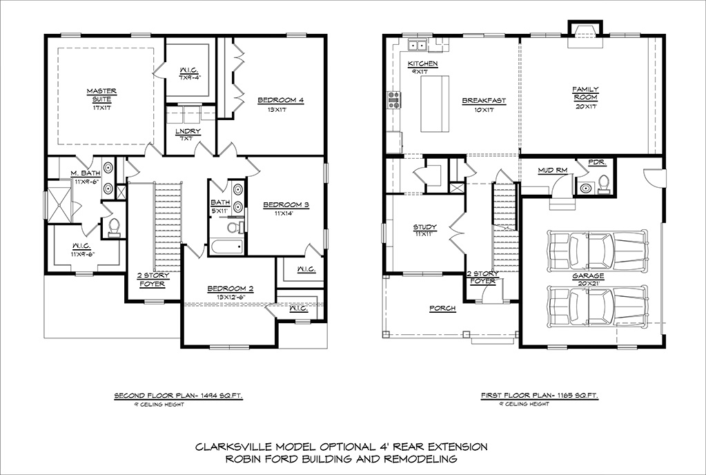 CLARKSVILLE-4'-Rear-Ext-1st-2nd-Floor-Plans-12-17-2